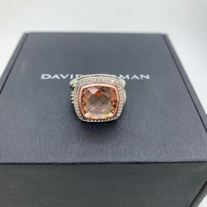 David Yurman 925 18KT Ros Gold Diam.Morganite Ring